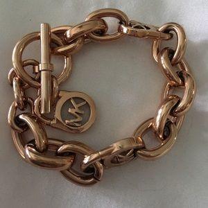 NWOT Michael Kors Rose-Gold Chain Link Bracelet